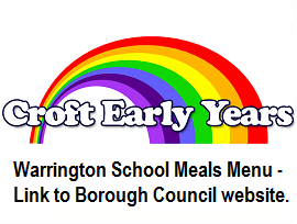 Warrington Borough Council School meals menu